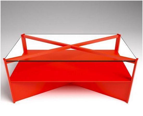 originales mesas de centro rojas