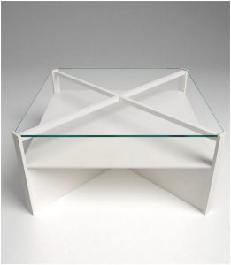 divertidas mesas de centro blanco perla